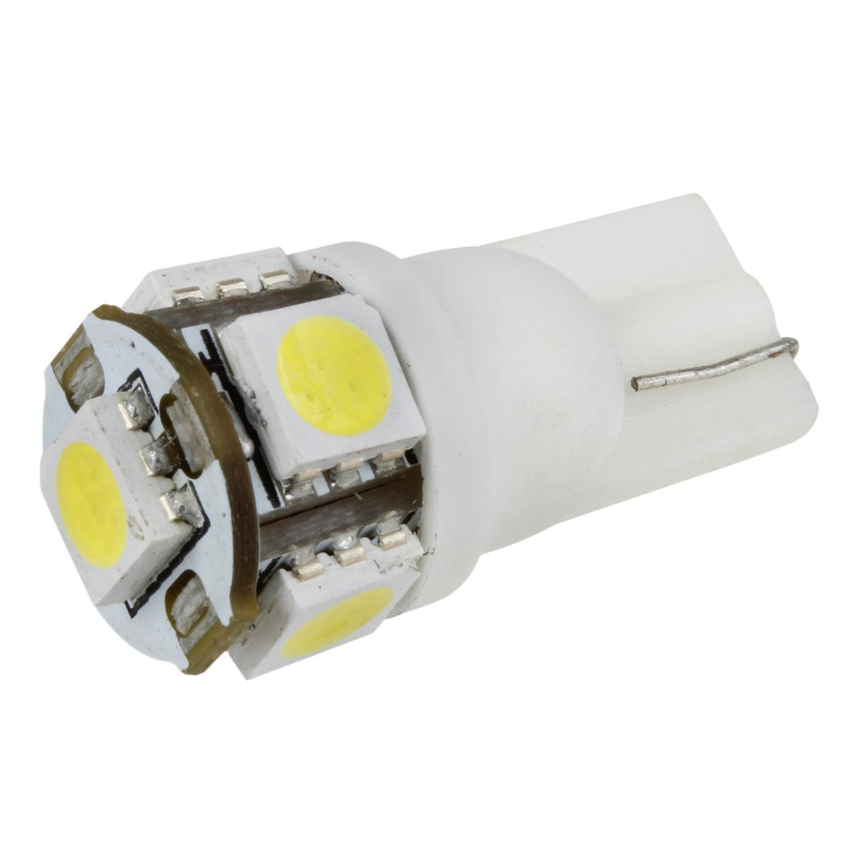 2PCS 168 194 2825 HID White 5 SMD 5050 LED Bulbs For