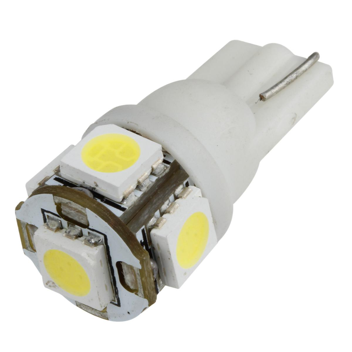 2 X 168 194 T10 2825 White 5 SMD LED Bulbs For Toyota