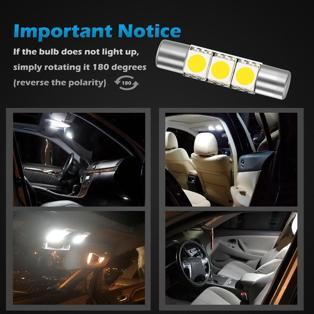 Vanity Light Bulb Size : 4x White Visor Vanity Mirror Lights Makeup Light White 3 SMD 6641 6614F Fuse LED