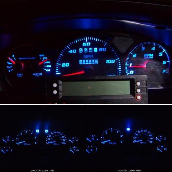 10x blue led instrument panel lights t10 194 dashboard. Black Bedroom Furniture Sets. Home Design Ideas