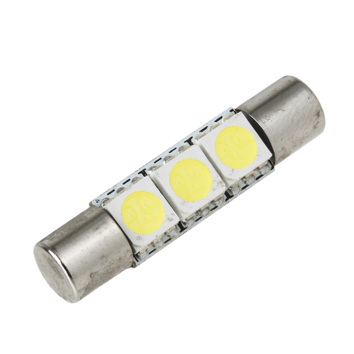 Vanity Mirror Led Light Bulbs : 8X 6000K White 3SMD LED Bulbs Interior Vanity Mirror Lights Fuse Shape 6641 29mm eBay