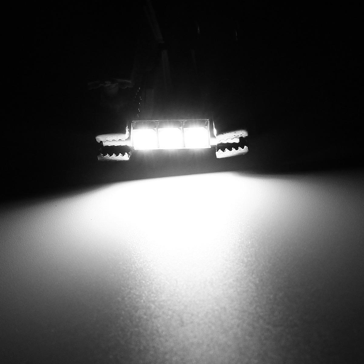 4pcs White 5050 3 LED Car Interior Vanity Mirror Lights Sun Visor Lamps 12V. 4pcs White 5050 3 LED Car Interior Vanity Mirror Lights Sun Visor