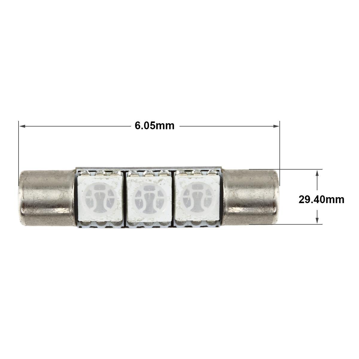 8 xenon blue 3 5050 smd led bulbs for car vanity mirror lights sun visor la. Black Bedroom Furniture Sets. Home Design Ideas