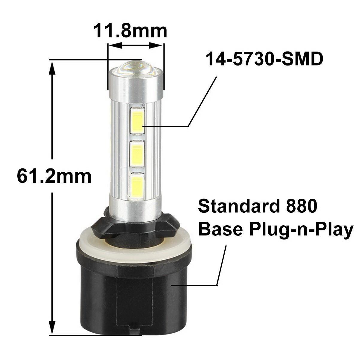 2005 2009 ford mustang 2x hid white 921 led reverse light bulb backup - 2x White 880 892 893 899 High Power