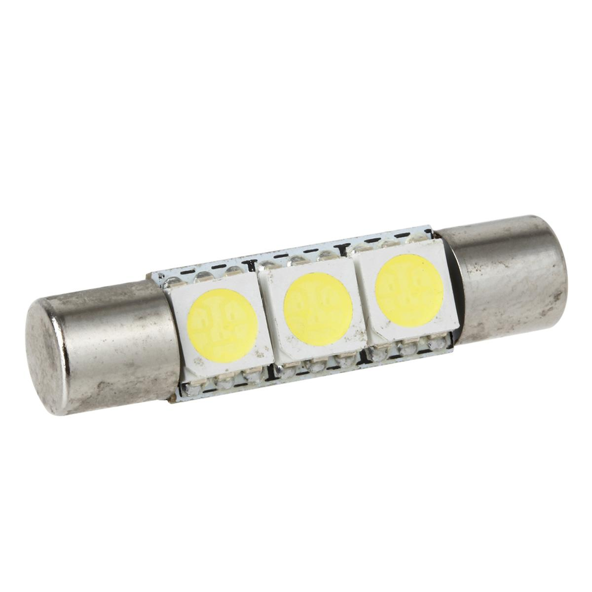 Vanity Lamp In Car : 10X Xenon White 3SMD 5050 LED Bulbs Interior Sun Visor Vanity Mirror Lights 6641 eBay
