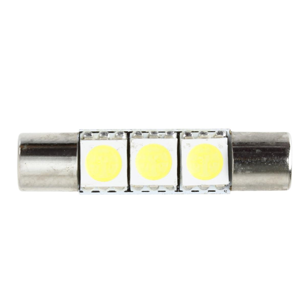 Vanity Mirror Led Light Bulbs : 10x Xenon White 3SMD 5050 LED Bulbs Interior Sun Visor Vanity Mirror Lights 6641 eBay
