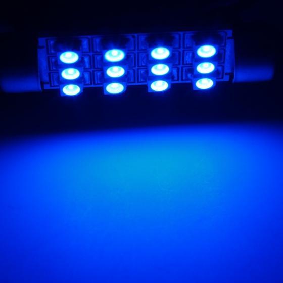 4x Xenon Blue 42mm 12smd 3528 Led Festoon Bulbs For Car Interior Dome Map Light
