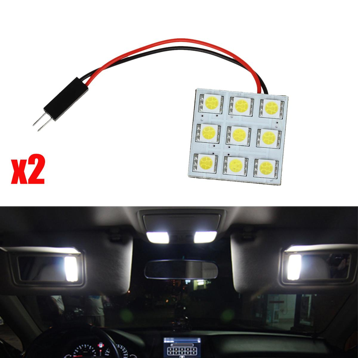 2x xenon white 9smd 5050 led festoon light panel t10 ba9s dome map 12v bulbs ebay. Black Bedroom Furniture Sets. Home Design Ideas