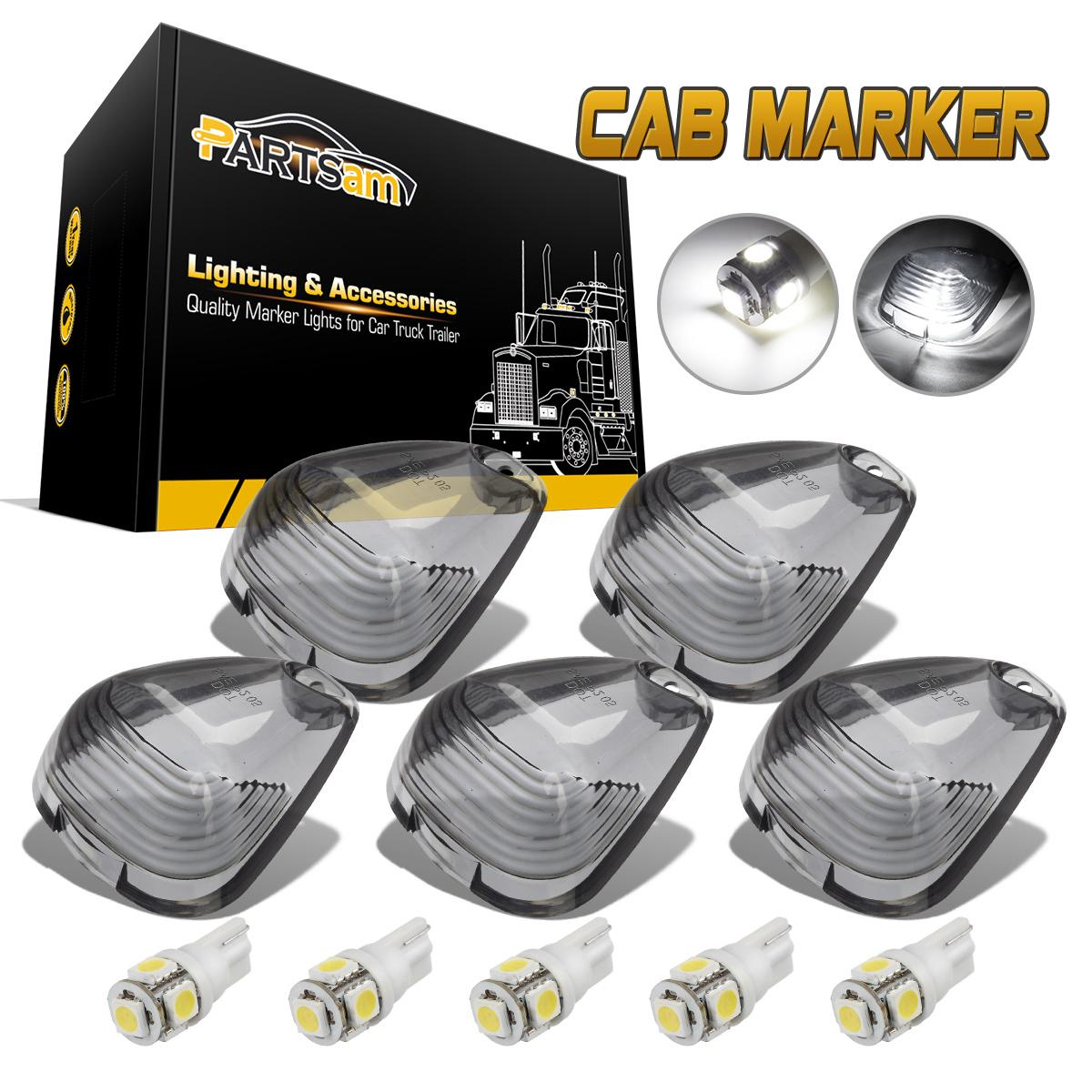 Led Bulb Cover: Smoke Cab Marker Clearance Lights Cover +Ice Blue T10 168
