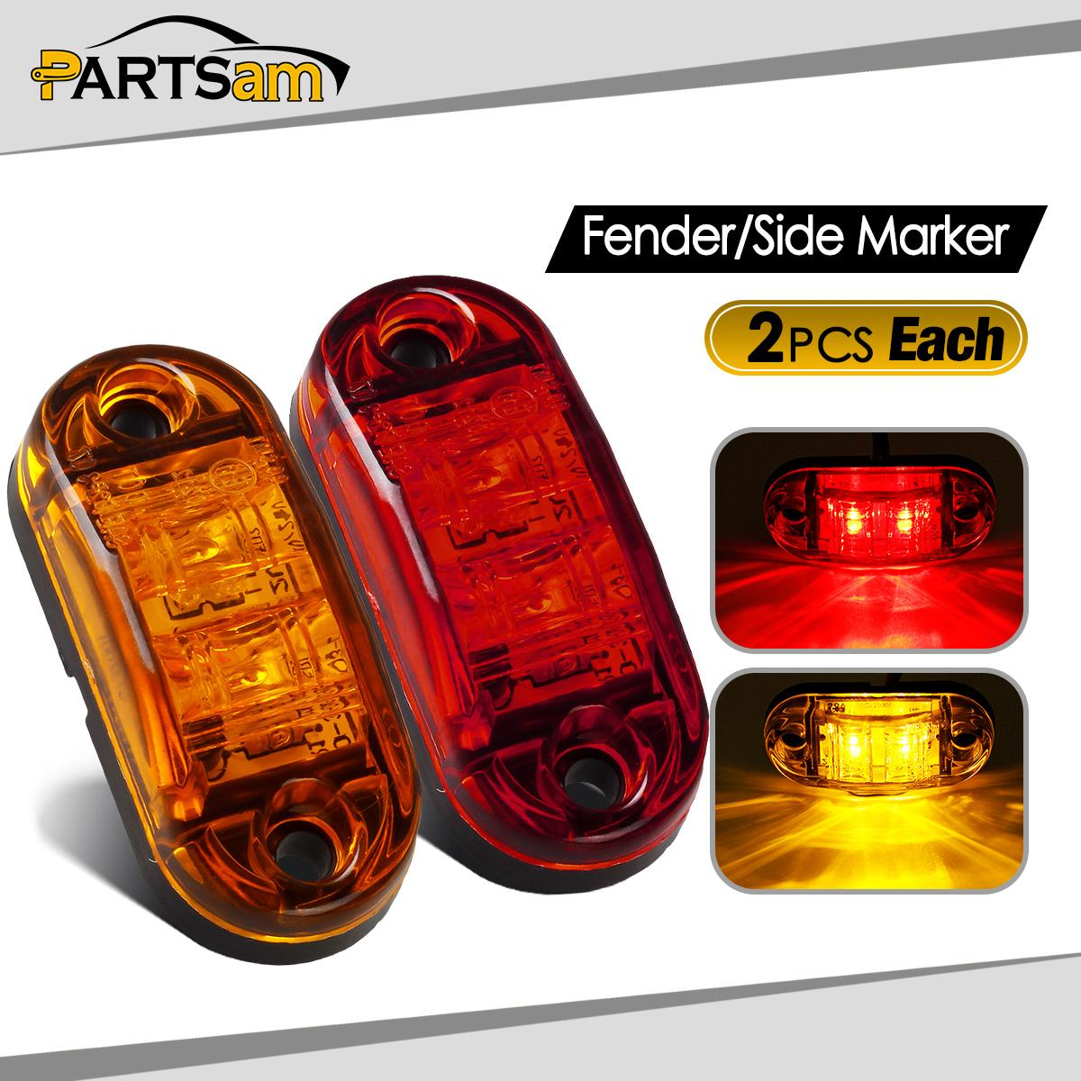 Red Truck Lamp : Amber red clearance diode quot led oval side marker lamp