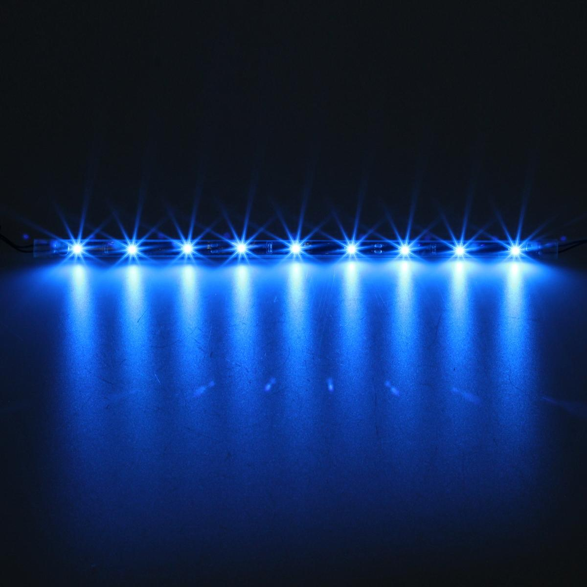 14pcs Bright Blue 3 Mode 3528 Led Underglow Under Light Neon Light Strip Bar Kit Ebay