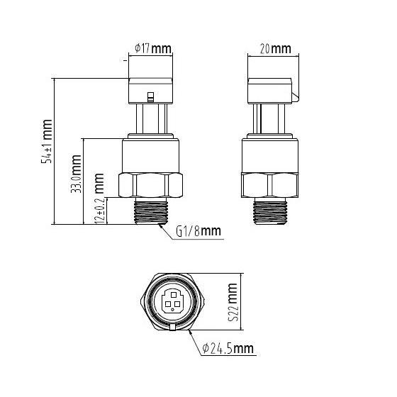 80 Psi Pressure Transducer Sender/Sensor/Transmitter For