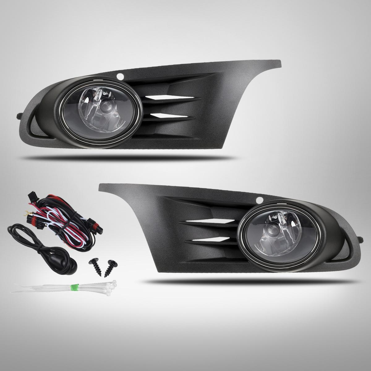 2015 Volkswagen Golf Sportwagen Suspension: Car Front Bumper Grille & Pair Fog Driving Light For 2010