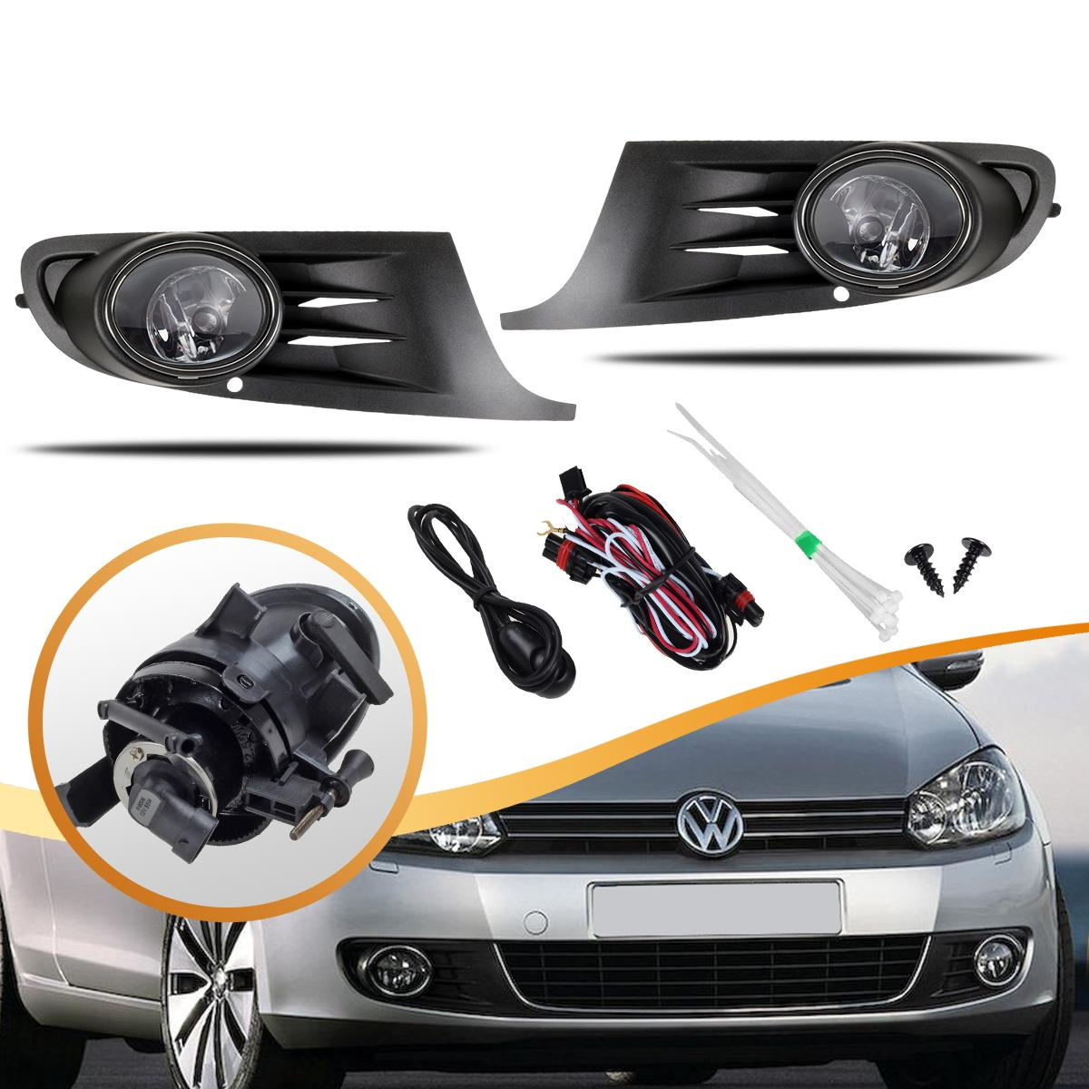 2015 Volkswagen Golf Sportwagen Suspension: Front Bumper Fog Lights Lamp Grille For 2010-2012 VW Jetta
