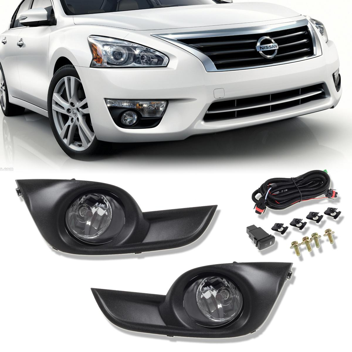 For 2013 2015 nissan altima 4 door sedan clear lens front fog bumper lights ebay 2015 nissan altima interior lights