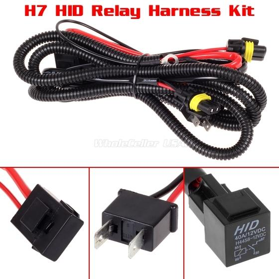 Car Xenon H7 Hid Conversion Kit Relay Wire Harness Adapter