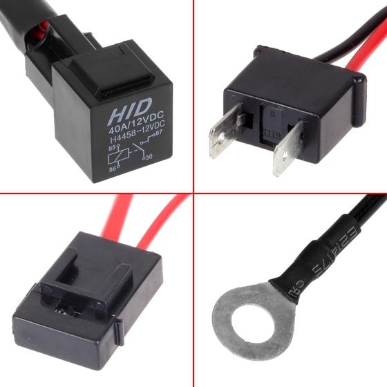 car xenon h7 hid conversion kit relay wire harness adapter. Black Bedroom Furniture Sets. Home Design Ideas