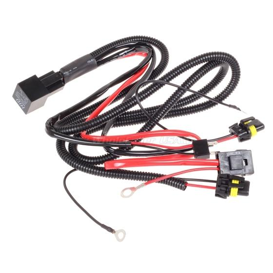 car xenon h7 hid conversion kit relay wire harness adapter philips headlight wiring kit headlight wire repair kit