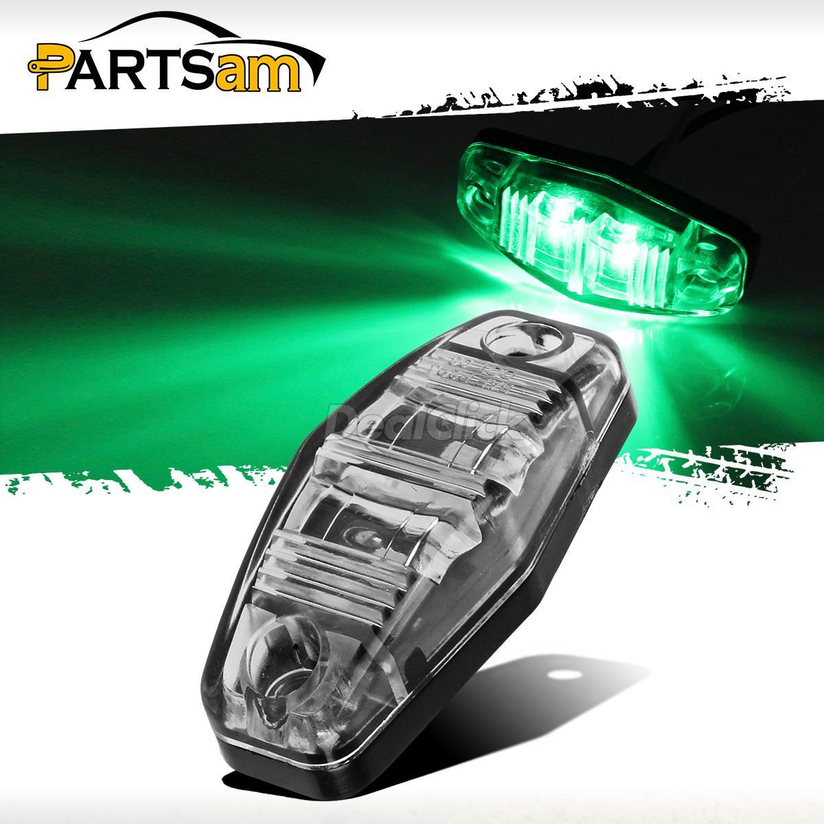 Clear Lens Green Car Marker Light Truck Clearance Lights