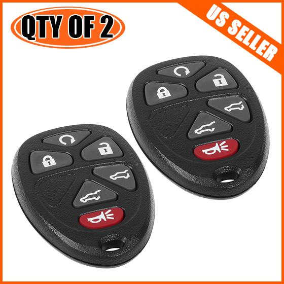 2 New 6 Buttons FOB Keyless Entry For 2007-2014 GMC Yukon