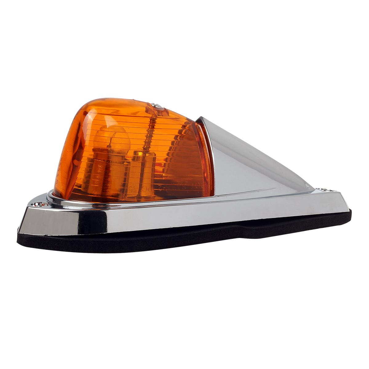 5pcs Teardrop Amber Cab Roof Truck Semi Trailer Clearance