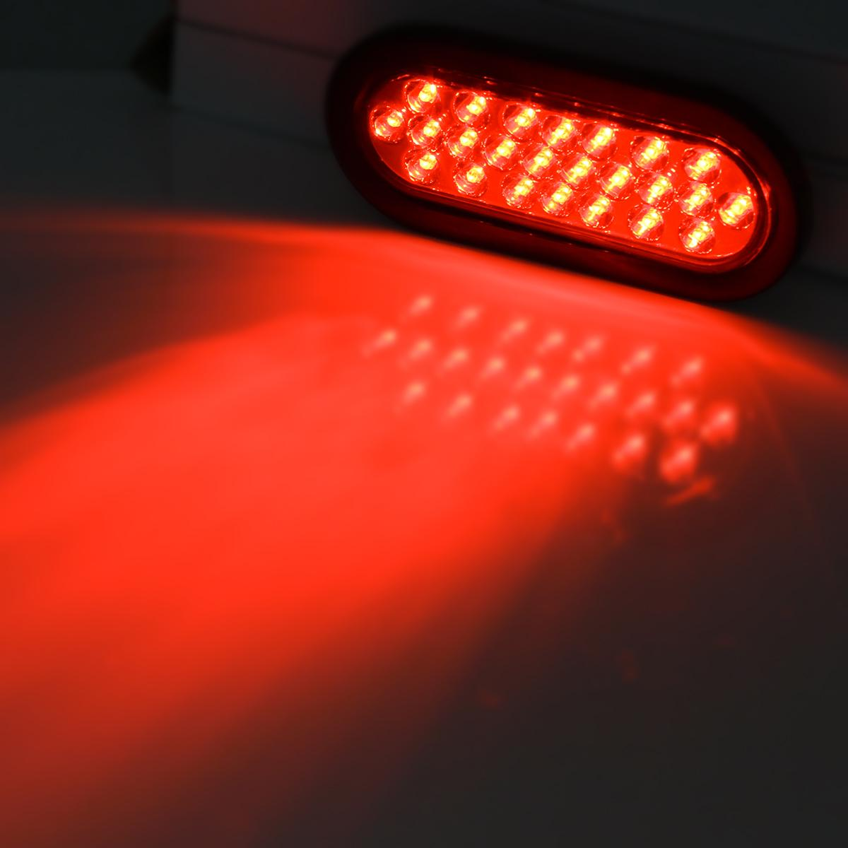 Led Lights For Tractor Trailers : V quot led stop tail turn truck tractor trailer brake