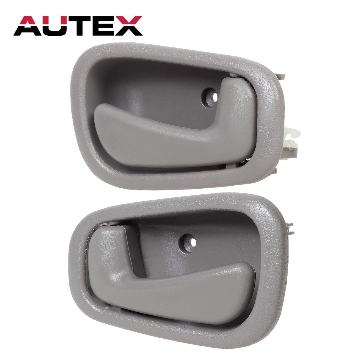 For 1998 2002 Toyota Corolla Pair Gray Inside Left And Right Door Handle Ebay