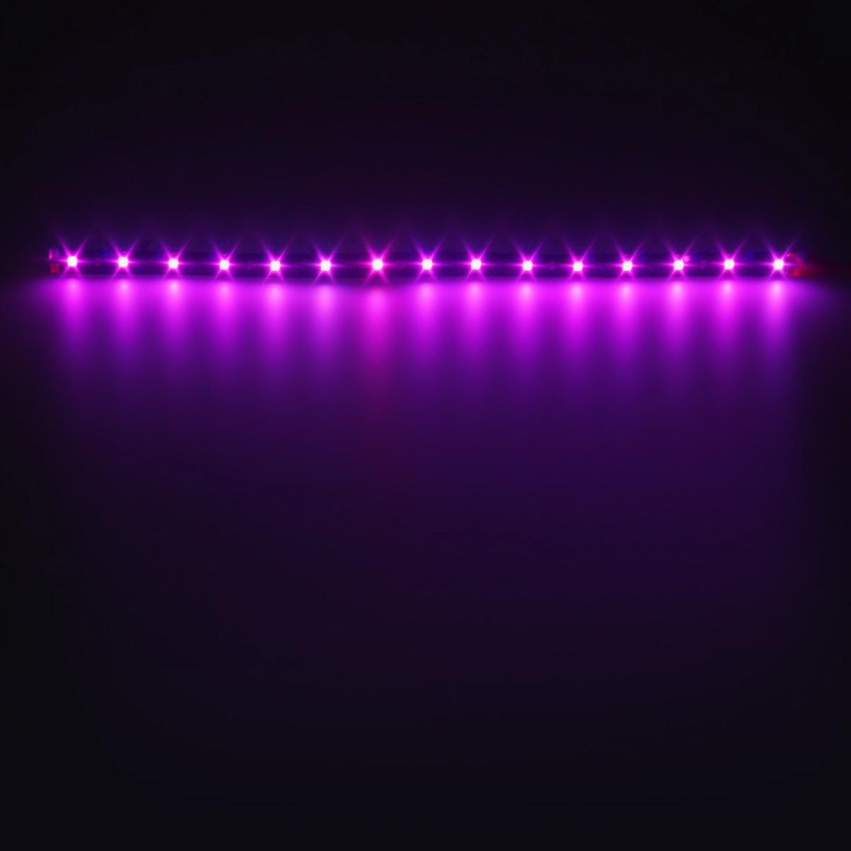 4pcs pink purple led strip lights interior exterior glow neon lighting car truck. Black Bedroom Furniture Sets. Home Design Ideas