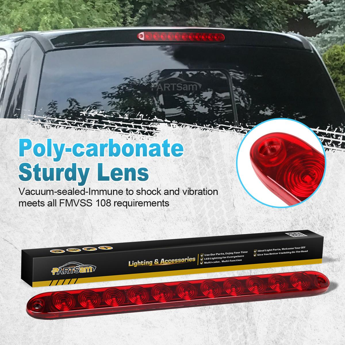 Red 15 Quot Waterproof 11 Led Light Bar Stop Turn Tail 3rd