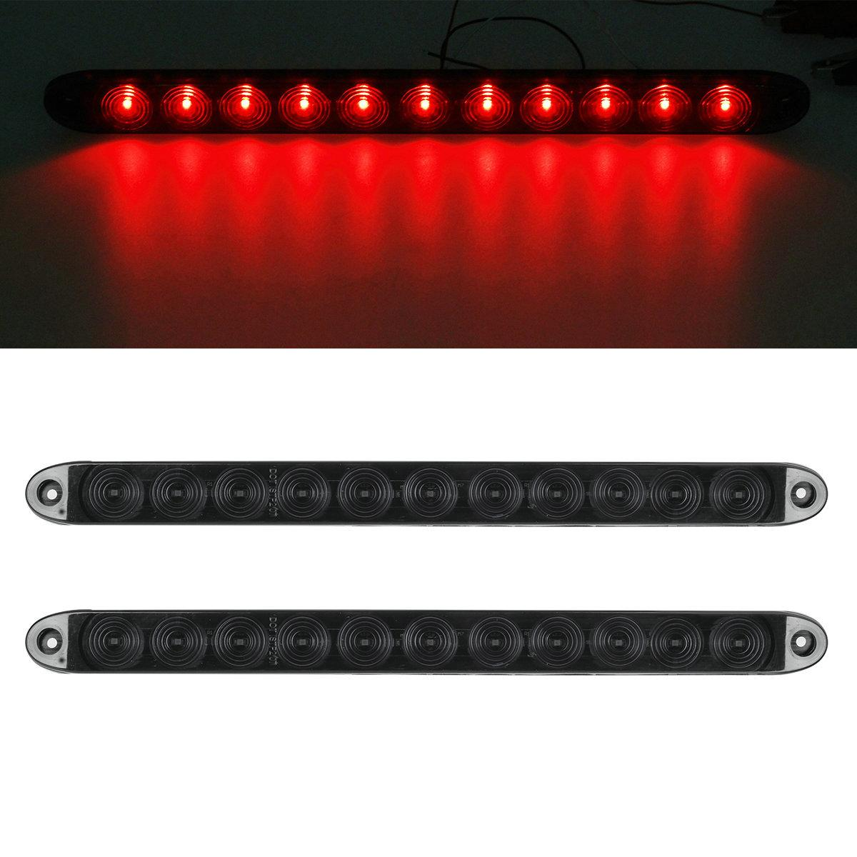 2x15 Quot Smoke Red 11led Trailer Truck Rv Stop Tail Turn