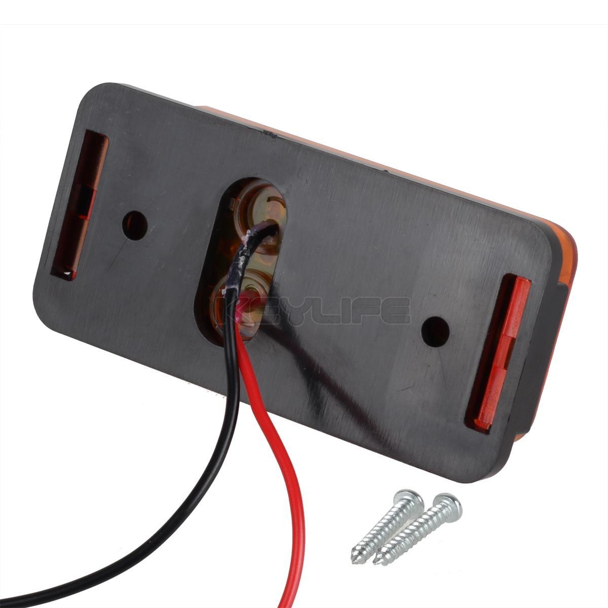 led light kit trailer truck turn stop boat light side marker w wire harness ebay
