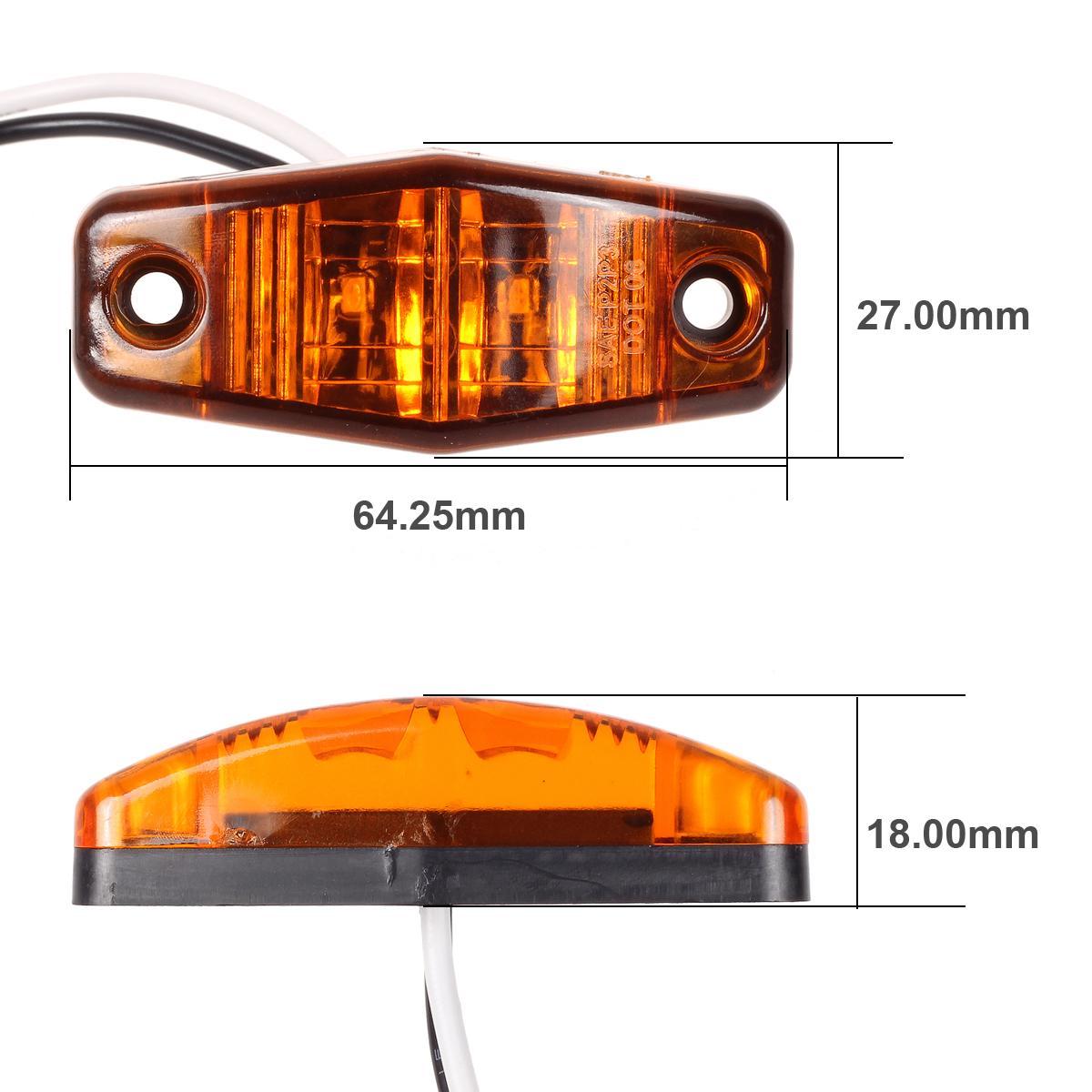 Camper Trailer Boat Light Kit Side Fender Marker Stop Turn