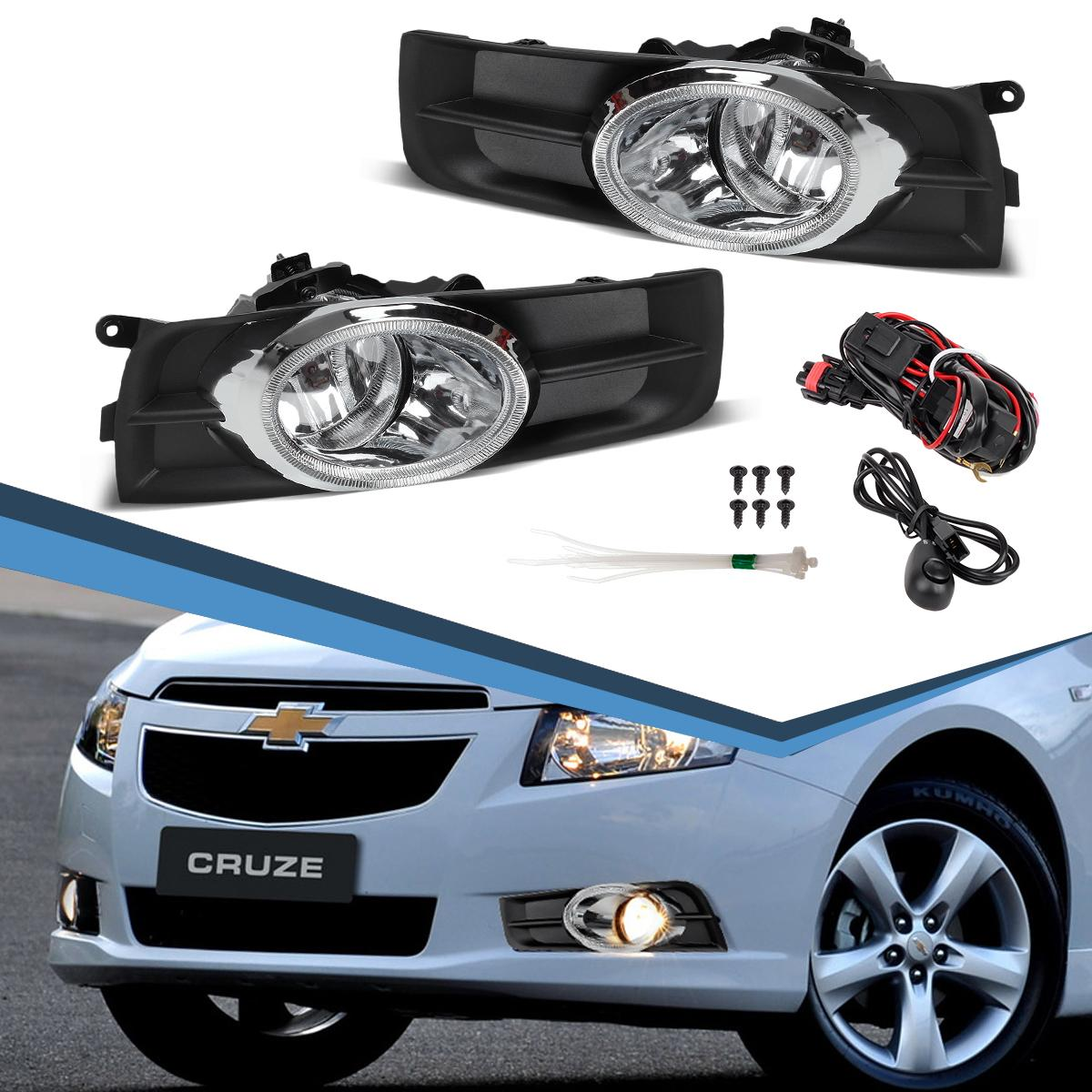For 2011 2014 Chevy Cruze Clear Fog Lamps Chrome Trim Front Bumper Lights Lamps Ebay