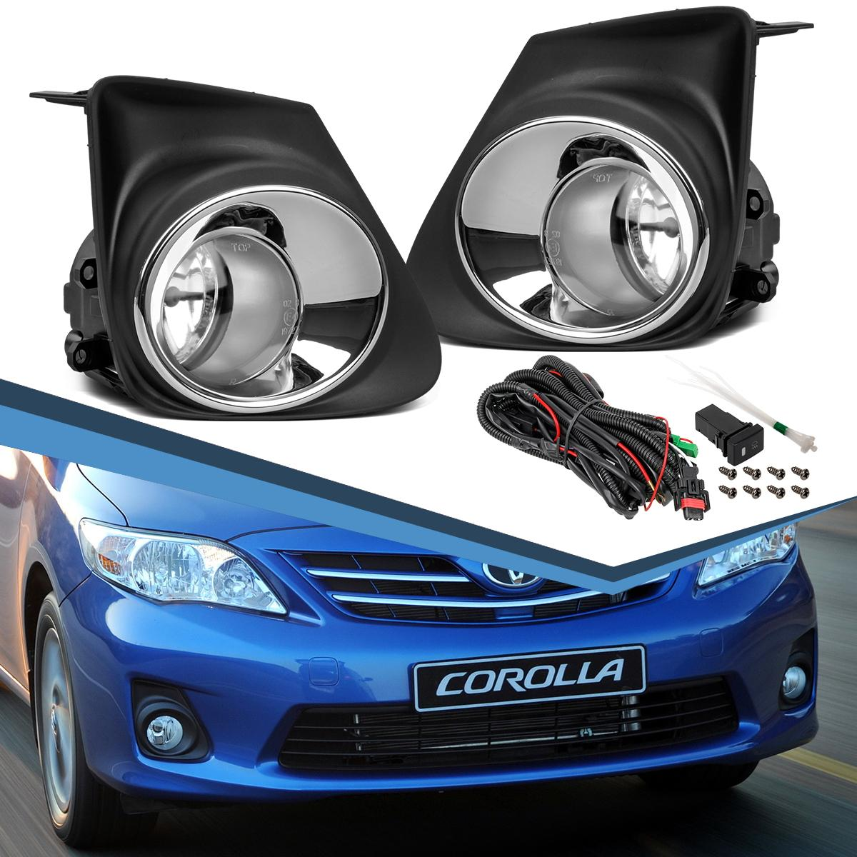 for 2011 2013 toyota corolla ce le clear bumper driving fog lights switch wiring ebay. Black Bedroom Furniture Sets. Home Design Ideas