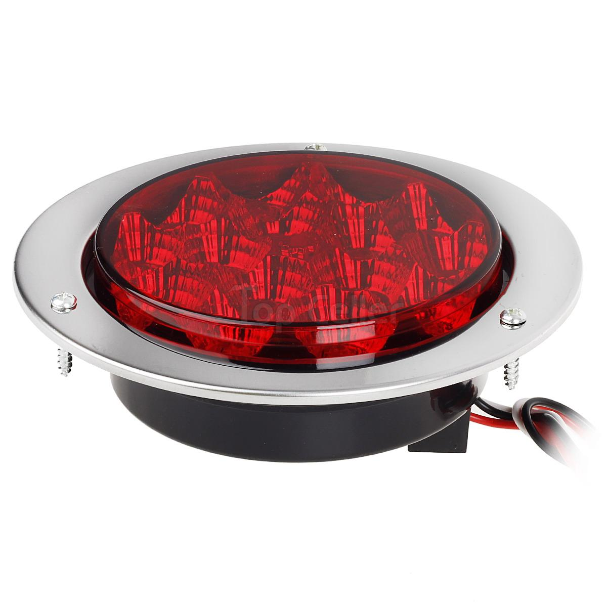 1pcs Red 15 Led 4 U0026quot  Round Trailer Truck Stop Turn Brake