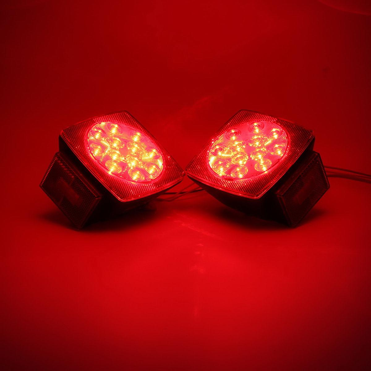 Red Led Camper Trailer Rv Boat Stop Tail Brake License Light Kit W Wire Harness Ebay