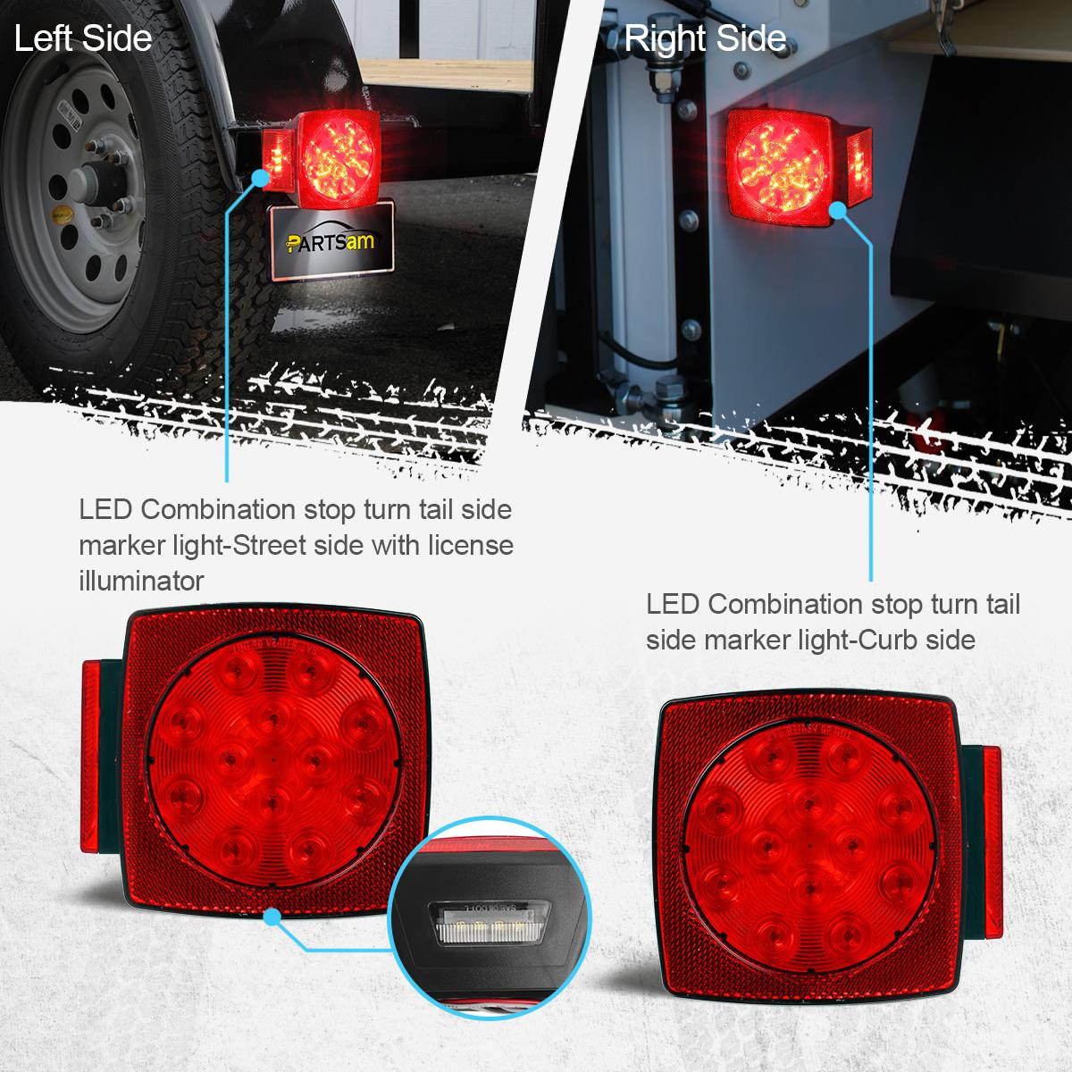 red led camper trailer rv boat stop tail brake license ... yacht club snowmobile trailer wiring diagram