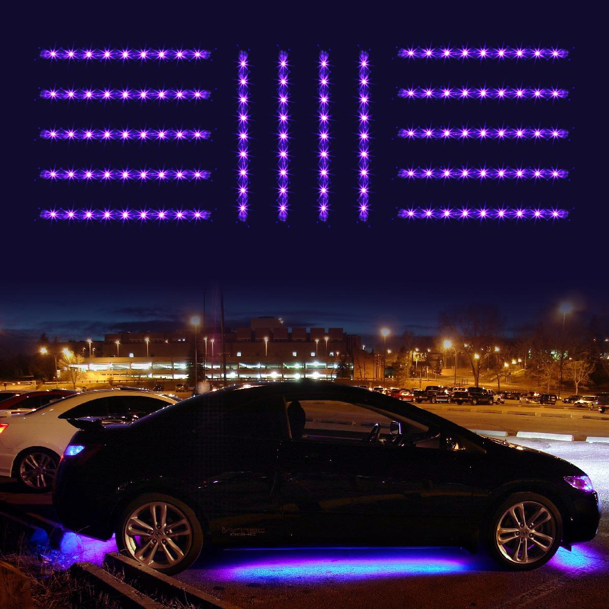Purple 14pc car truck underglow under body neon accent glow led lights kit 3mode ebay - Underglow neon ...