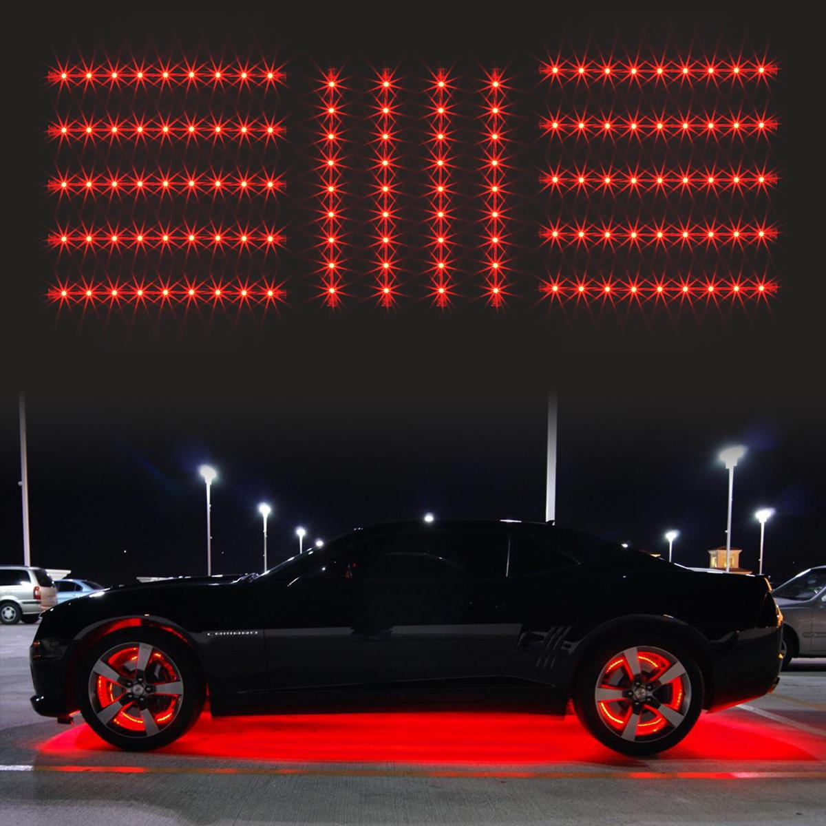 14pc red car truck underglow under body neon accent glow led lights 12 strip ebay - Underglow neon ...