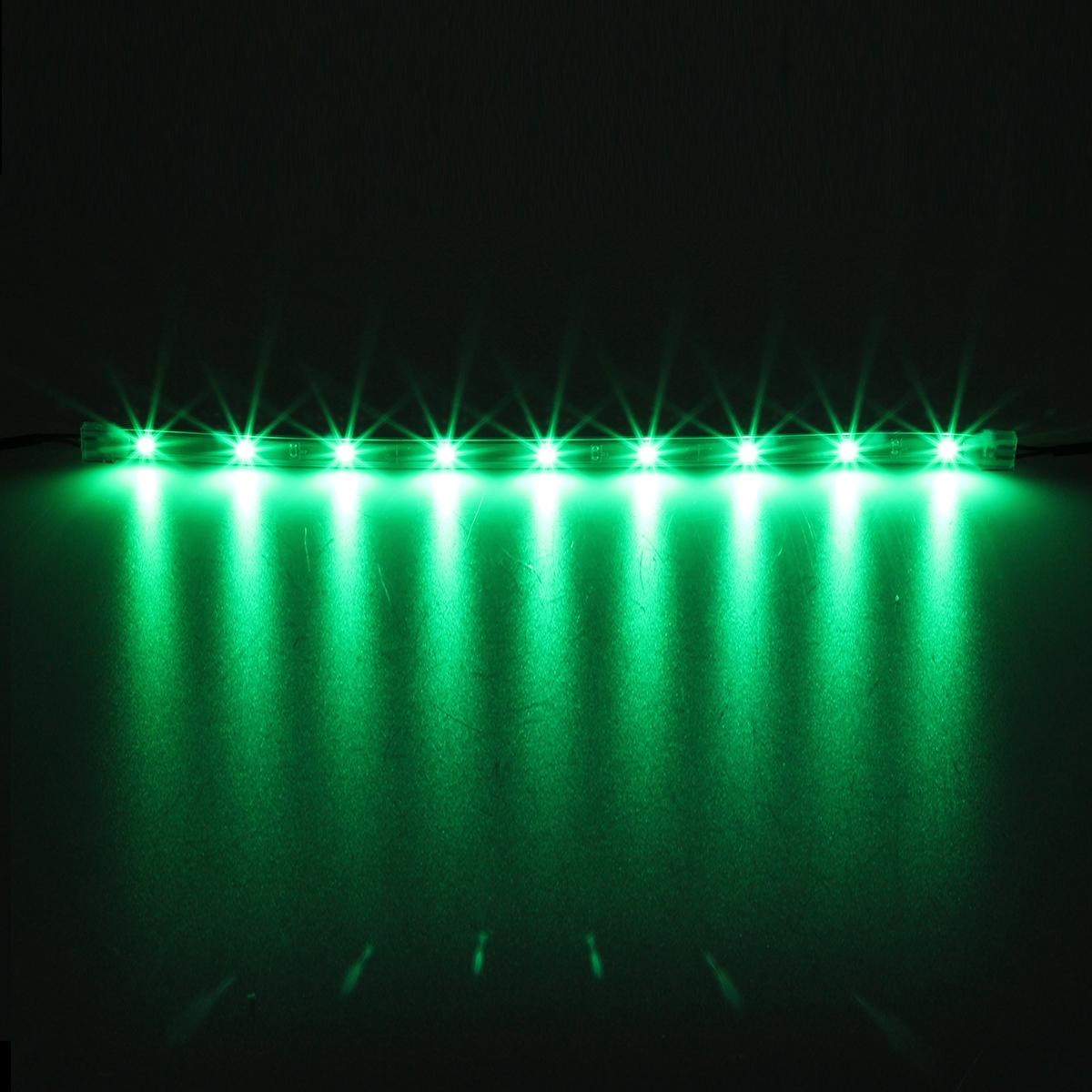 14pc green car truck underglow under body neon accent glow led lights 12 strip ebay - Underglow neon ...