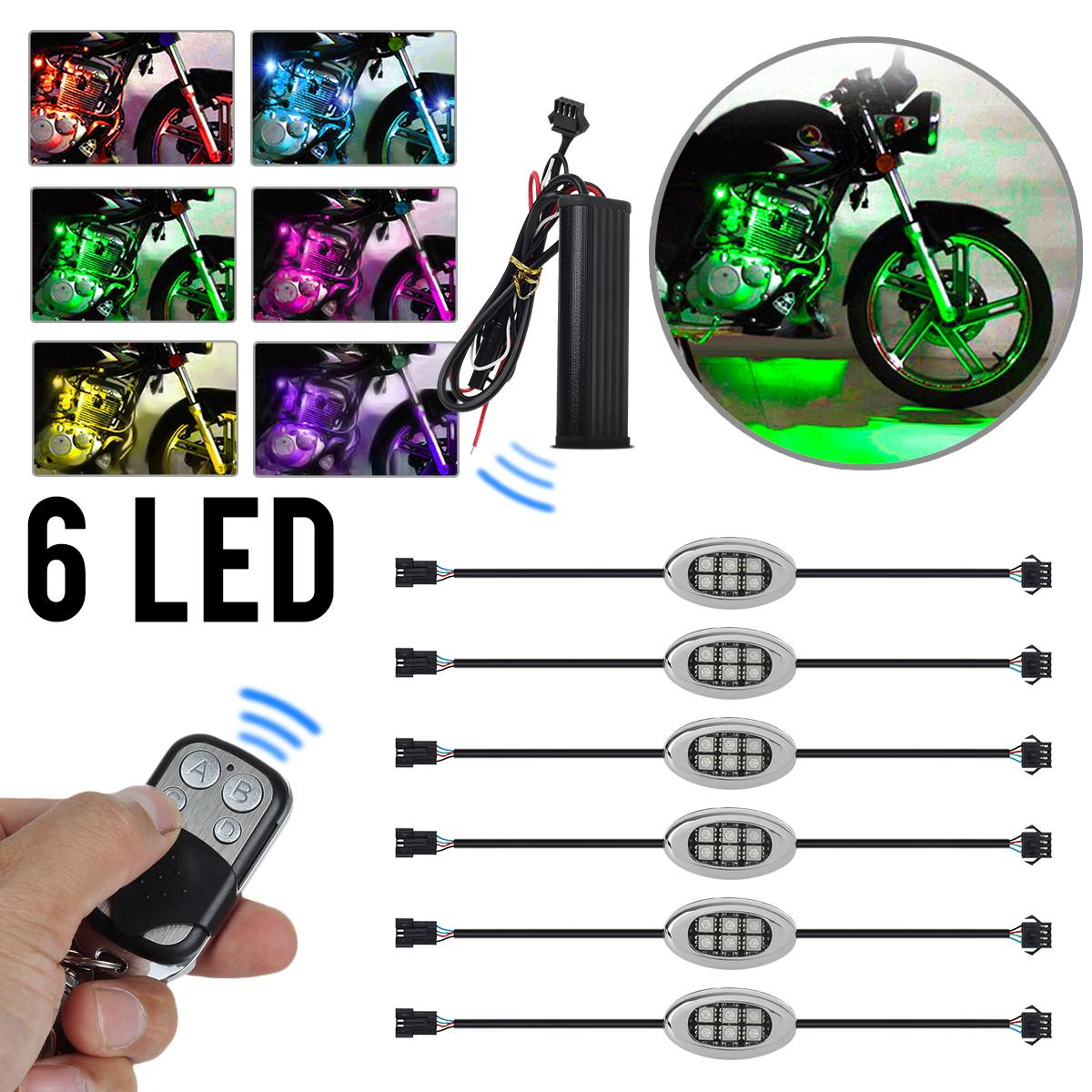 RGB Multi Color 36LED Neon Motorcycle Engine Wheel