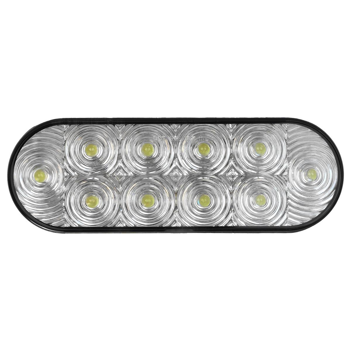 2x clear white oval 10 led reverse fog tail light 6 truck. Black Bedroom Furniture Sets. Home Design Ideas