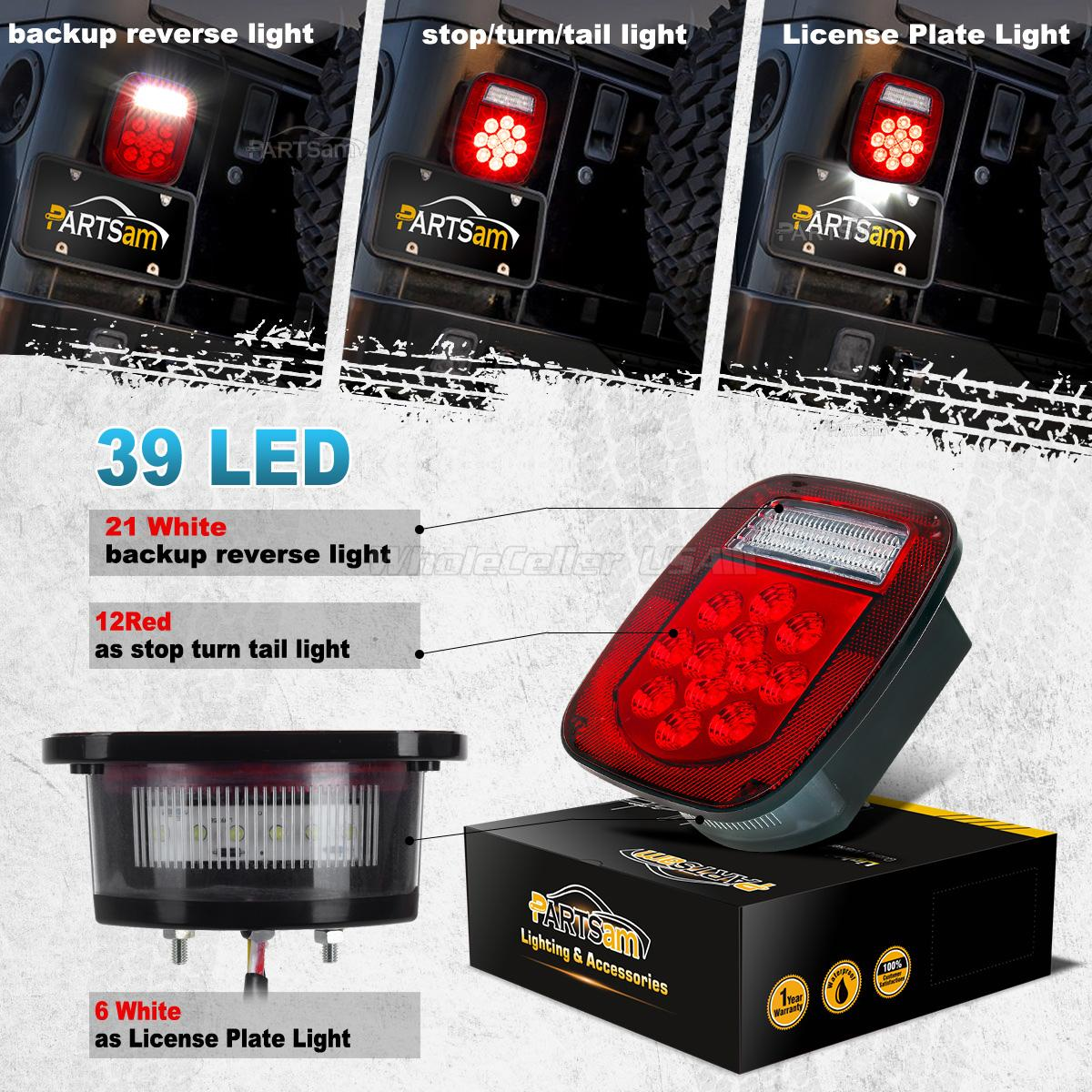Backup Light Wiring On Jeep Tj Led Tail Lights And Schematics Wrangler Reverse 39 Truck Trailer Boat Cj Yj Jk Stop Turn