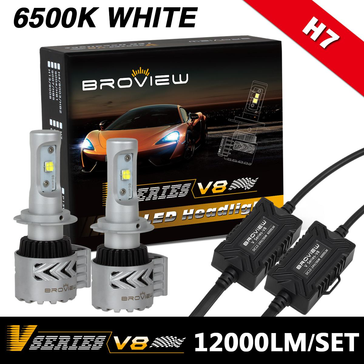 broview v8 6500k white h7 high power headlight conversion. Black Bedroom Furniture Sets. Home Design Ideas