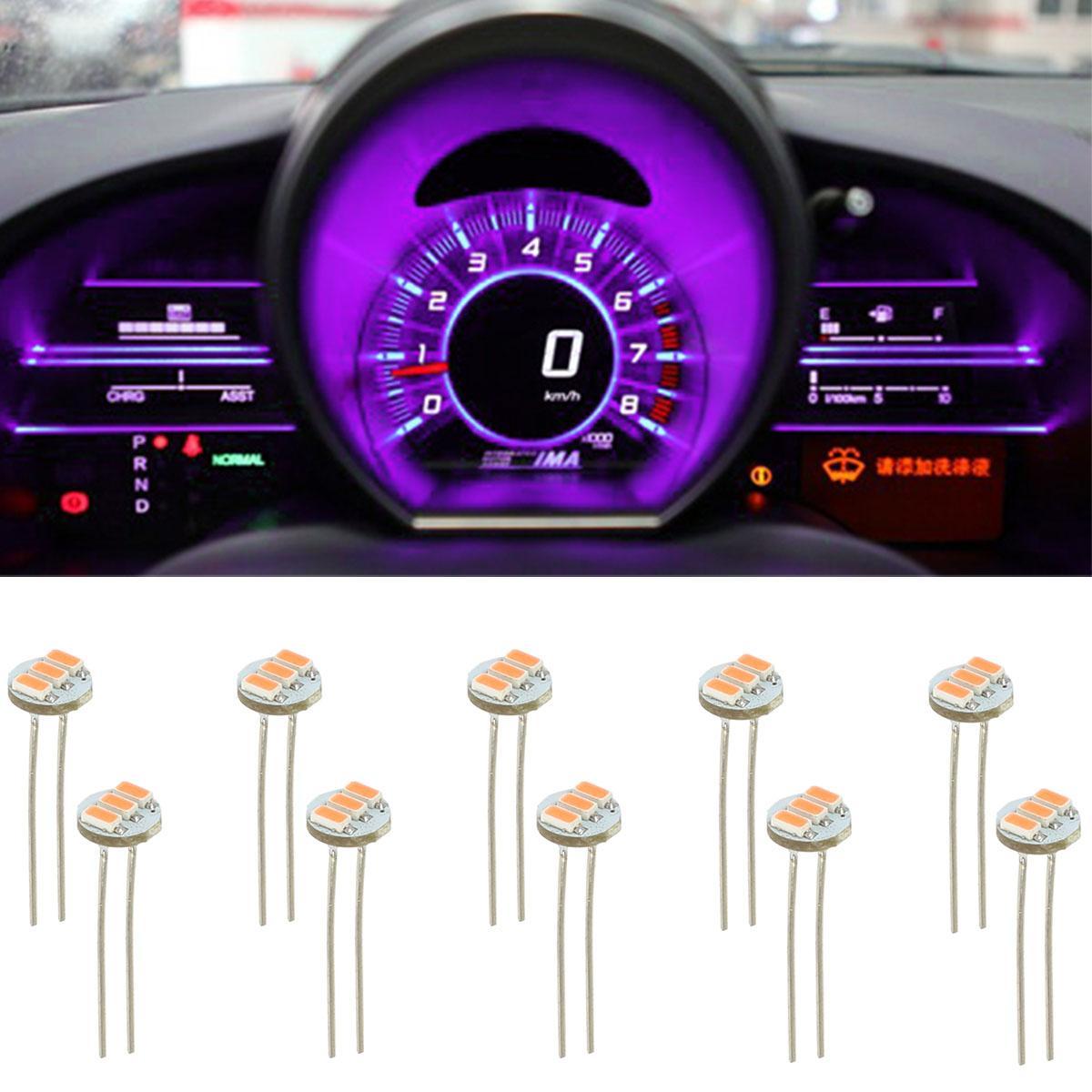 10x T5 Pink Purple Soldering LED Bulb Dash Instrument