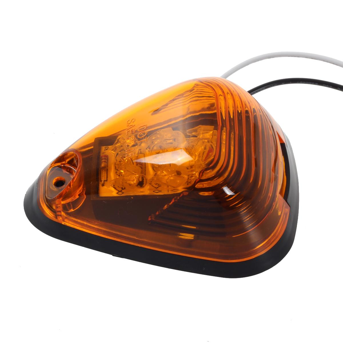 Lights On Sale: Set/5 Amber Top Roof Clearance Cab Markers Lights W/ Amber