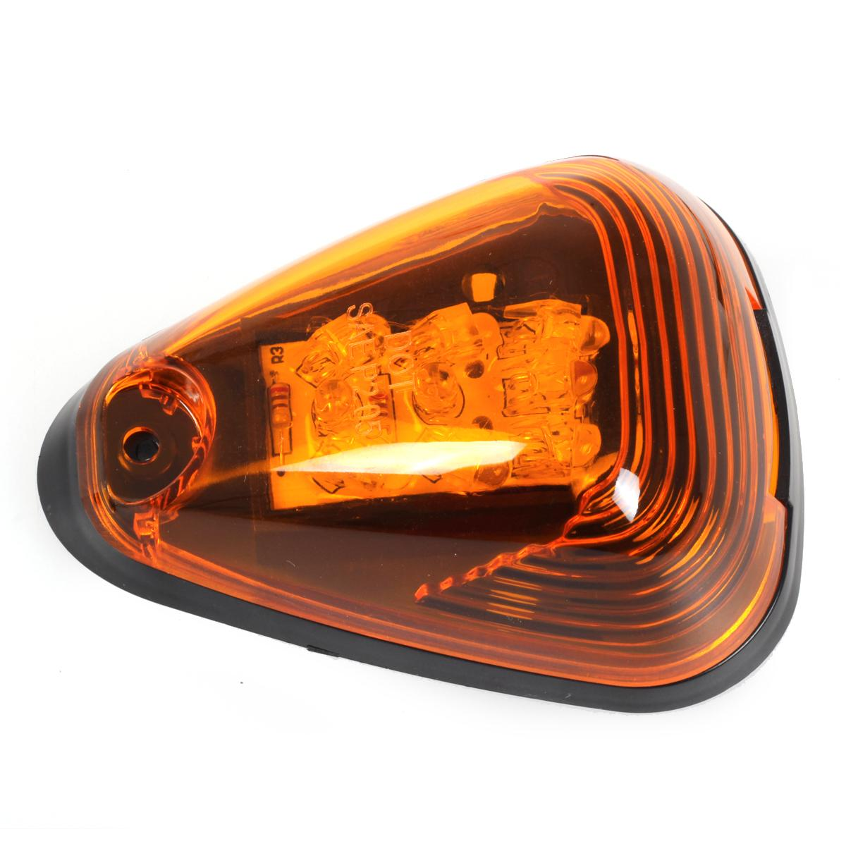 Set 5 Amber Top Roof Clearance Cab Markers Lights W Amber