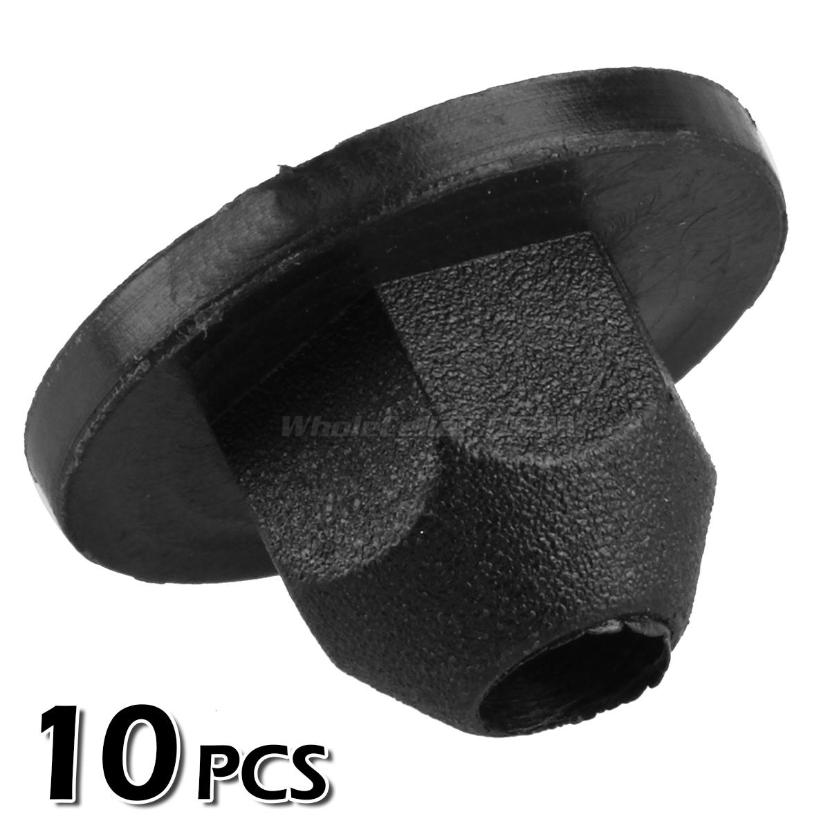10pcs Nylon Trim Panel Harness Flange Nut Rivet For Vw