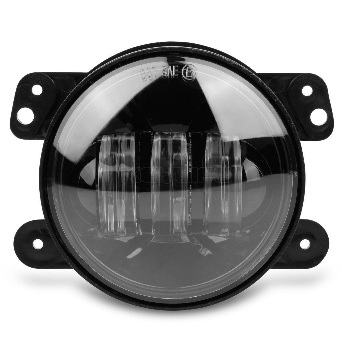 Cree 4 Quot Round Led Fog Lights Black Bezel High Power For