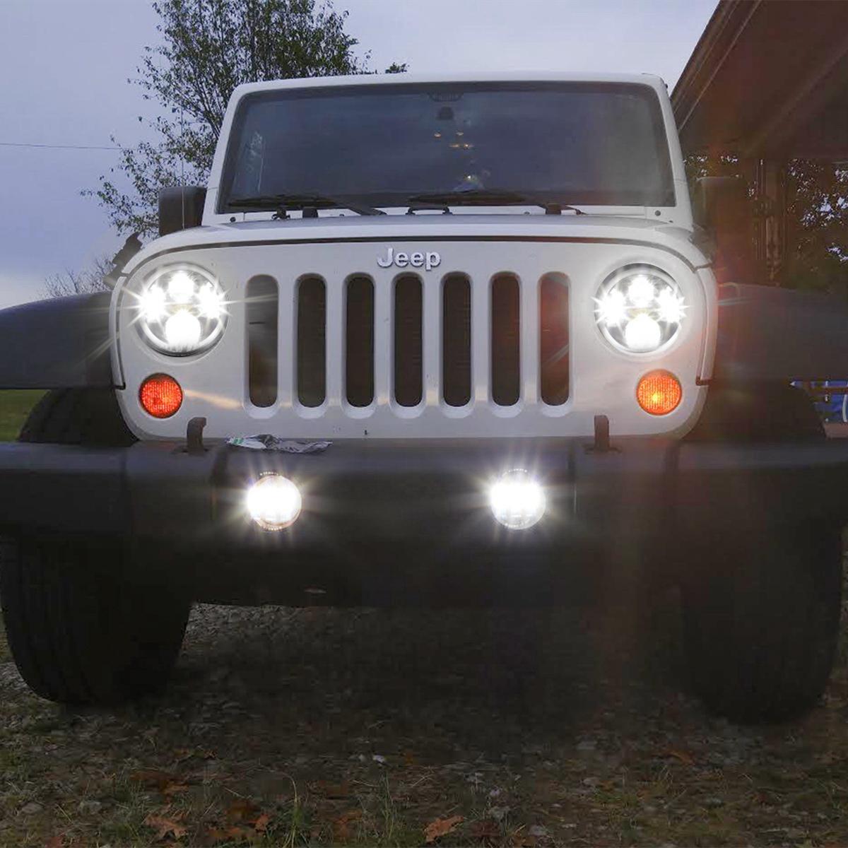 jeep wrangler unlimited led interior lights for 07 14 jeep wrangler jk rubicon sahara led fog driving